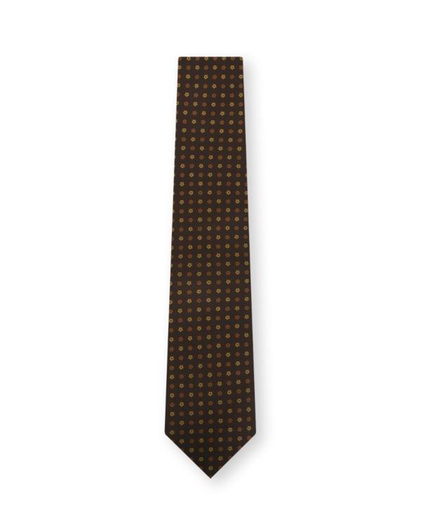 Tie Flower Print Brown