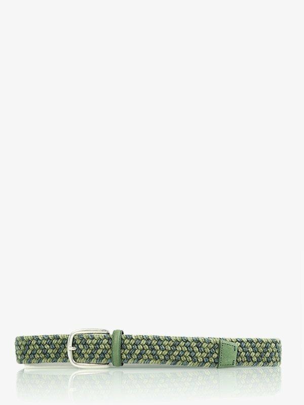 Gevlochten riem groen