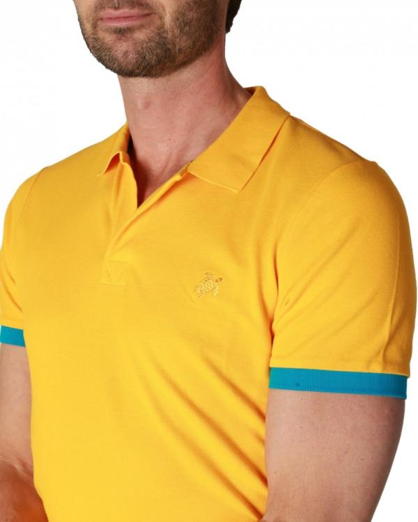 Poloshirt geel