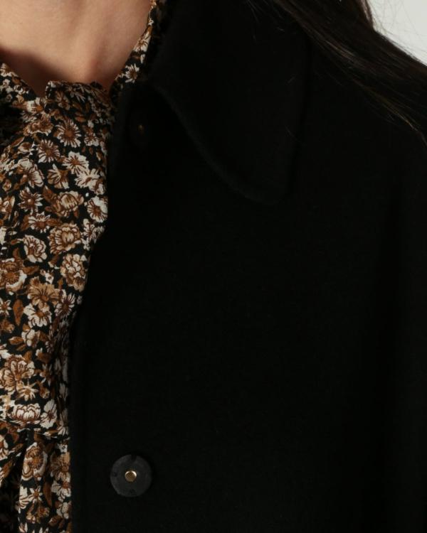 mantel lang 007 black