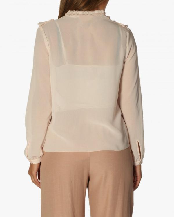 Pleated blouse roze
