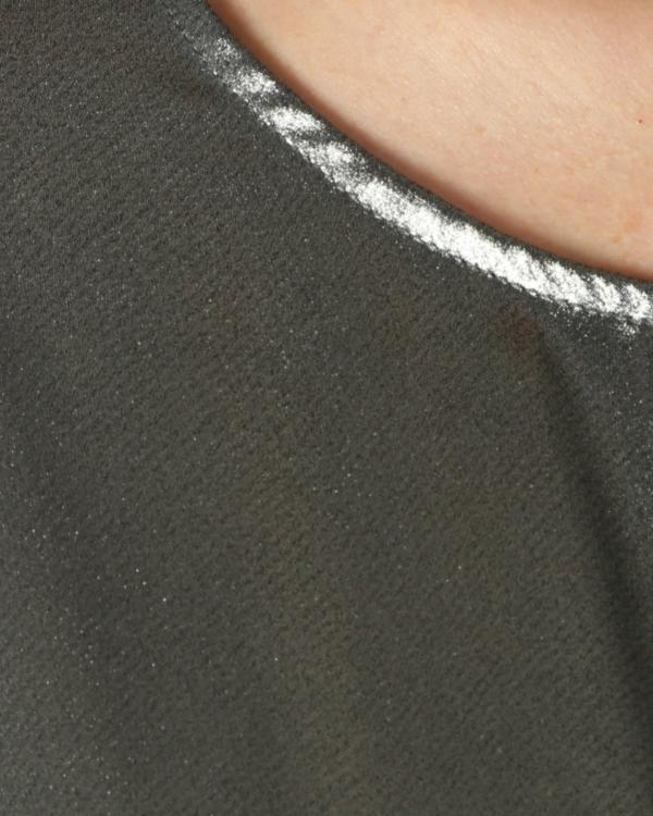 Metallic boxy blouse