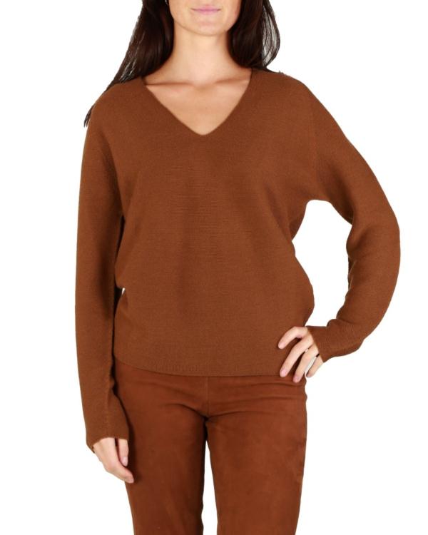 Knitted Sweater V-neck